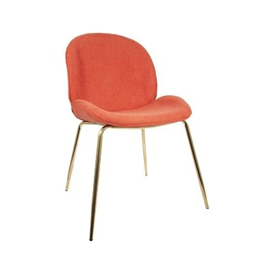 Oberlin Fabric Beetle Chair, Coral / Gold