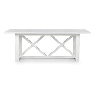 Sorrento Wooden Dining Table, 220cm, White