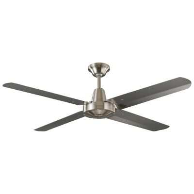 """Threesixty Velocity Ceiling Fan, 122cm/48"""", Stainless Steel"""