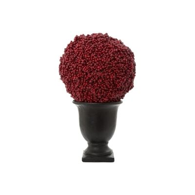 Bessie Potted Artificial Berry Ball, Small