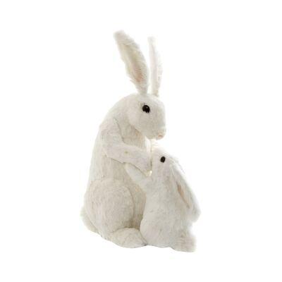 Moll Mum & Bub Rabbit Figurine