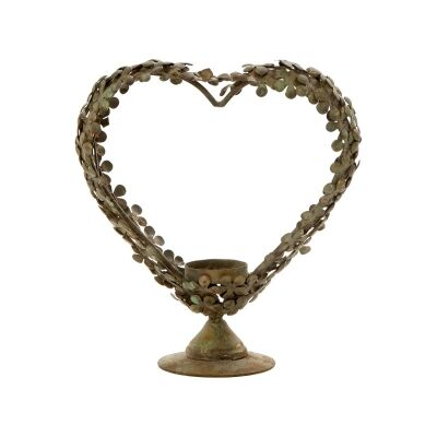 Davila Metal Heart Wreath Tealight Holder