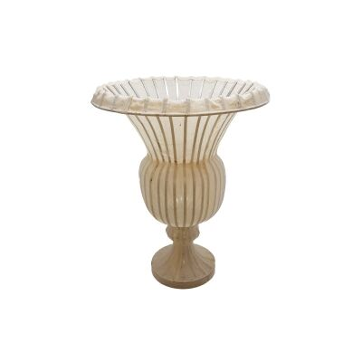 Kiefer Wirework & Muslin Fabric Urn Vase