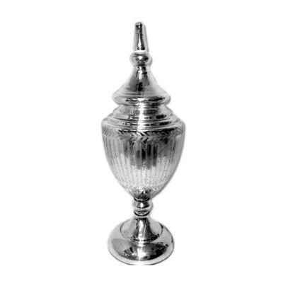 Mercury Glass Urn, Medium