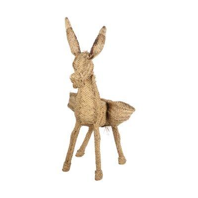 Arlo Esparto Grass Donkey Figurine