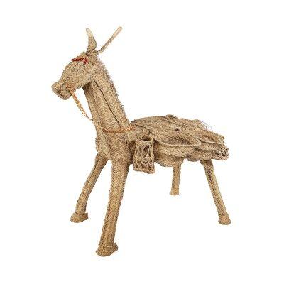 Mason Esparto Grass Donkey Figurine