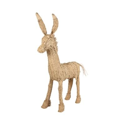 Anton Esparto Grass Donkey Figurine