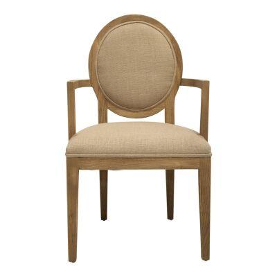 Tian Elm Timber Dining Armchair