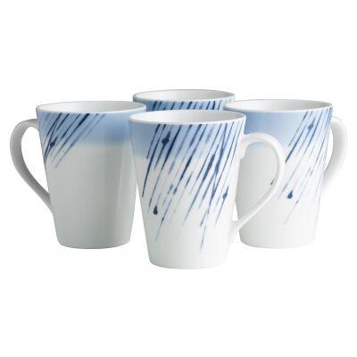 Noritake Hanabi Porcelain Mug, Set of 4