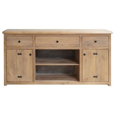 Ramsey Mountain Ash Timber 2 Door 3 Drawer Buffet Table, 178cm