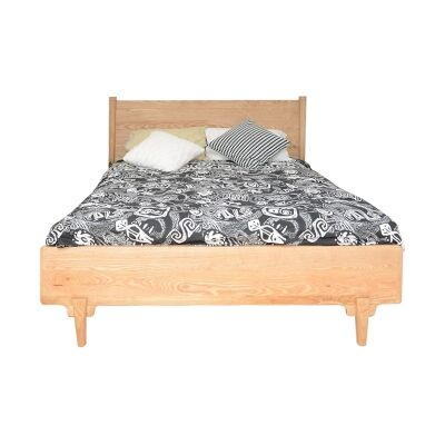 Shepparton Ash Timber Bed, Queen