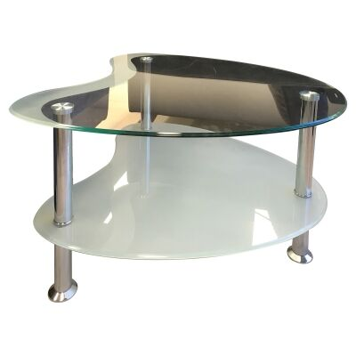 Mangrove Glass & Metal Lamp Table