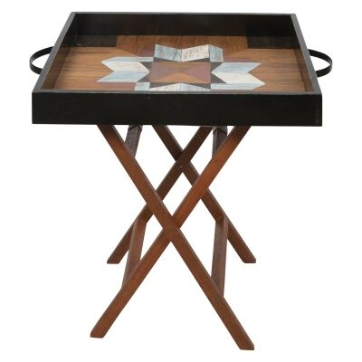 Antol Wooden Tray Top Side Table