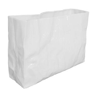 Paper Bag Ceramic Vase