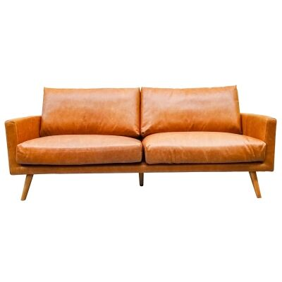 Madrid Leather Sofa, 3 Seater