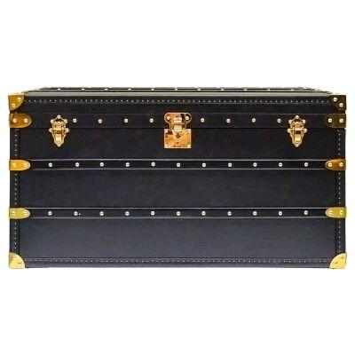 Nyc Leather Storage Trunk Box, 93cm
