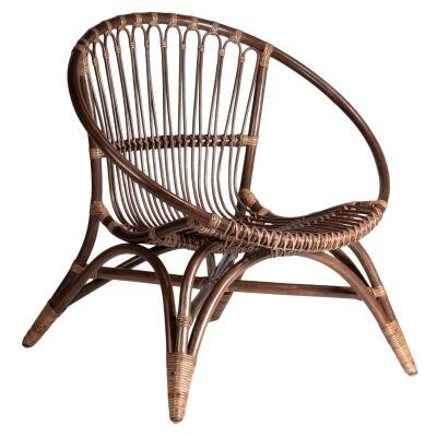 Tokyo Rattan Lounge Chair, Jazz Brown