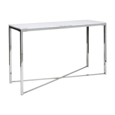 Gizele Marble & Stainless Steel Console Table, 130cm