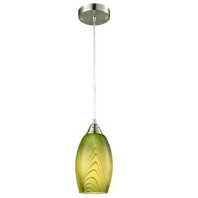 Glaze Glass Pendant Light, Green
