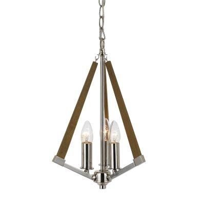 Graf Metal & Ashwood Pendant Light, Small