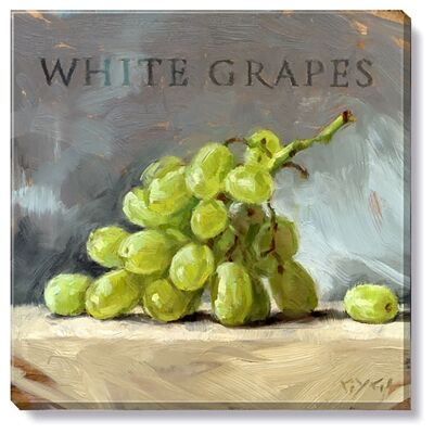 Bayport Stretched Canvas Wall Art Print, White Grapes, Medium