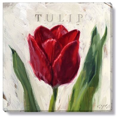 Bayport Stretched Canvas Wall Art Print, Red Tulip, Small