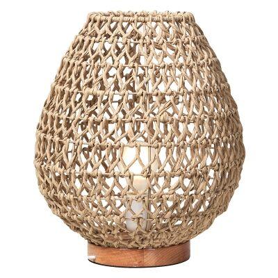Capri Woven Paper Table Lamp, Medium