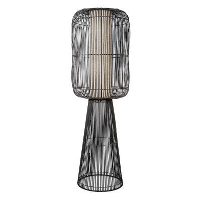 Bungalow Bamboo Rattan Floor Lamp