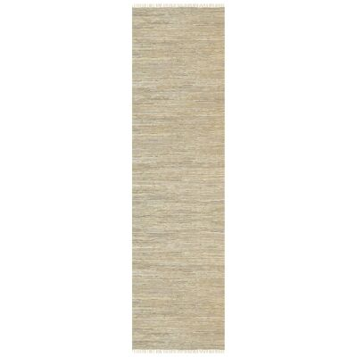 Gypsy Hand-tied Leather Runner Rug, 80x400cm, Sage