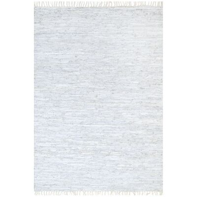 Gypsy Hand-tied Leather Rug, 190x280cm, White