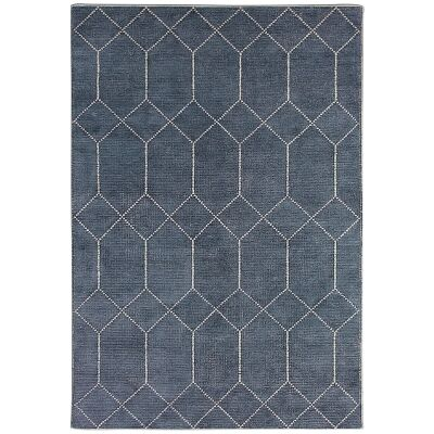 Geometrics Hand Knotted Wool Rug, 160x230cm, Storm