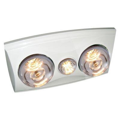 Ventair Eko 3-in-1 Bathroom Heater with Exaust & LED Light, White