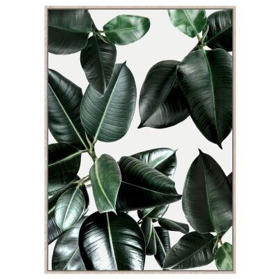 Eira Leaves Framed Canvas Wall Art Print, 120cm