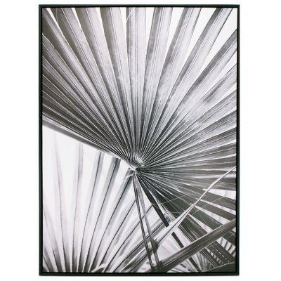 """""""Grey Palm"""" Framed Canvas Wall Art Print, No.1, 110cm"""