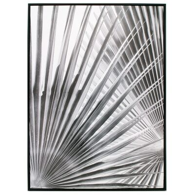 """""""Grey Palm"""" Framed Canvas Wall Art Print, No.2, 110cm"""