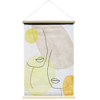"""Dreamsong"" Hanging Scroll Canvas Wall Art Print, No.1, 90cm"