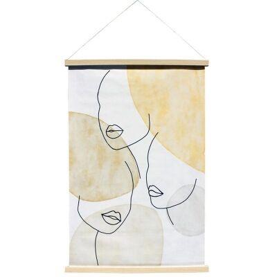 """Dreamsong"" Hanging Scroll Canvas Wall Art Print, No.2, 90cm"