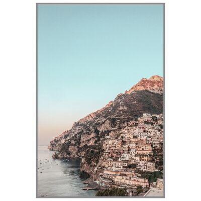 """Attractive Places"" Framed Canvas Wall Art Print, Amalfi Coast, 110cm"