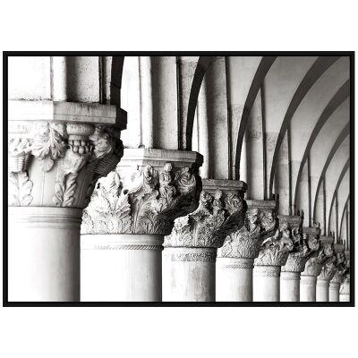 """""""Architectural Aesthetics"""" Framed Canvas Wall Art Print, Capital Row, 110cm"""