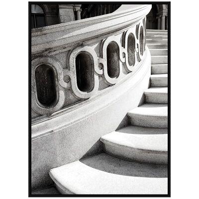 """Architectural Aesthetics"" Framed Canvas Wall Art Print, Ascending Steps, 110cm"