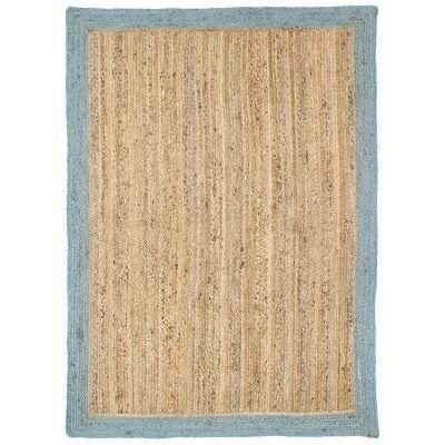 Hampton I Reversible Jute Rug, 190x280cm, Blue