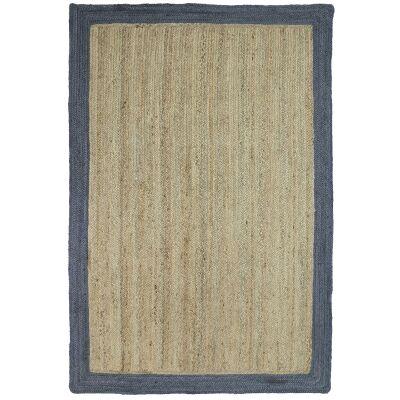 Hampton I Reversible Jute Rug, 150x220cm, Grey