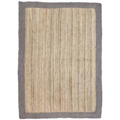 Hampton I Reversible Jute Rug, 150x220cm, Taupe