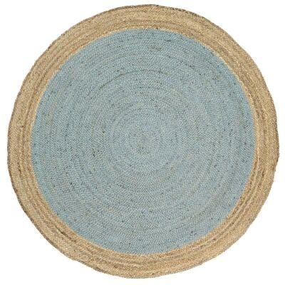 Hampton II Reversible Jute Round Rug, 150cm, Blue