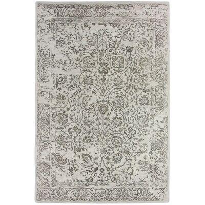Hamptons Hand Loomed Oriental Wool Rug, 200x300cm, Steel