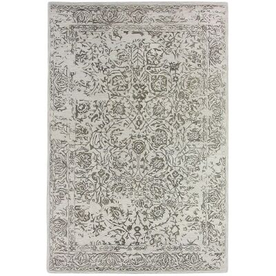 Hamptons Hand Loomed Oriental Wool Rug, 300x400cm, Steel