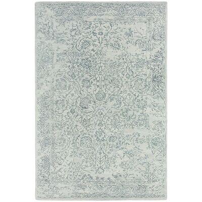 Hamptons Hand Loomed Oriental Wool Rug, 300x400cm, Sky