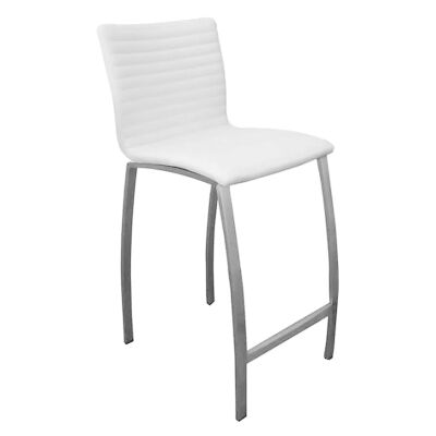 Higgins PU Leather Counter Stool, White
