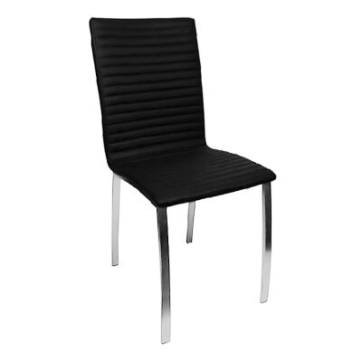 Higgins PU Leather Dining Chair, Black