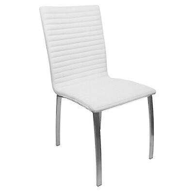 Higgins PU Leather Dining Chair, White